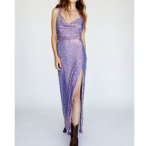 Free People Cool Girl Maxi Sequin Boho Gown 6 MED
